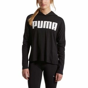 Puma Black Hooded Long Sleeve Tee NWT